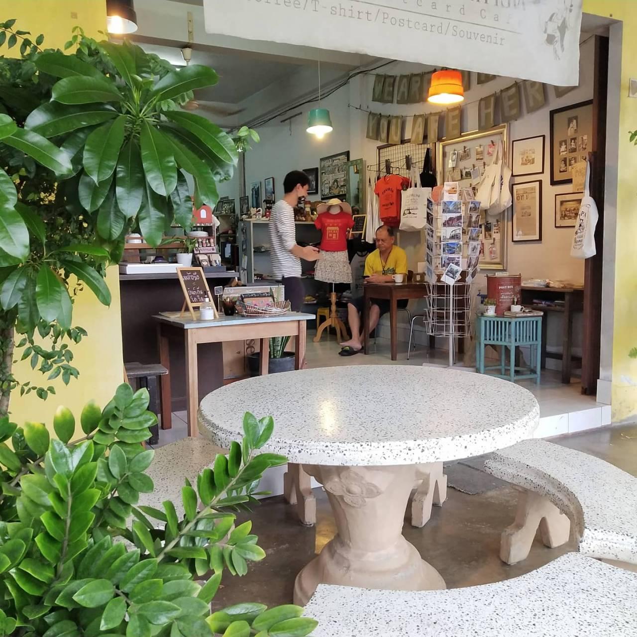 ร้านกาแฟตะกั่วป่าโปสการ์ด